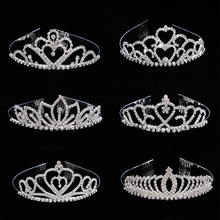 Stunning 1*Crown Headband Princess Queen Party Tiara Hair Ornaments Accessories Crystal Crown with Comb