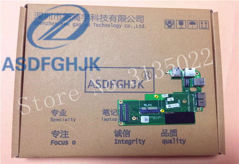 FOR Dell FOR Inspiron 14R N4110 Vostro 3450 Audio Jack Ethernet USB Board 086G3N