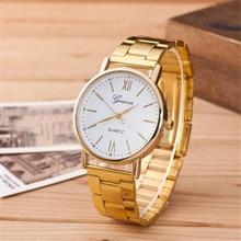 2016 New Women's Fashion Womens Roman Numerals Quartz Stainless Steel Wrist Watch  Elegant Design Free Shipping Montre Femme