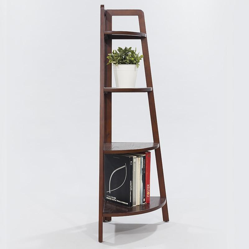 IKEA Shelving Racks Triangle Wood Floor Corner Shelf Display Rack Clapboard  Creative Bedroom Corner Flower Stand In Swivel Plates From Home Improvement  On ...