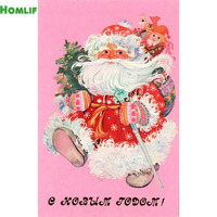 5D Diy Diamond Painting Needlework Kit Diamond Embroidery Christmas Santa Claus Full Rhinestone Cross Stitch Diamond