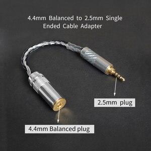 Image 2 - OKCSC OFC Adaptateur 2.5mm Interface Mâle 4.4mm Équilibré Femelle Prise Audio Stéréo Câble 8 Noyaux pour SONY PHA 2A TA ZH1ES NW WM1Z