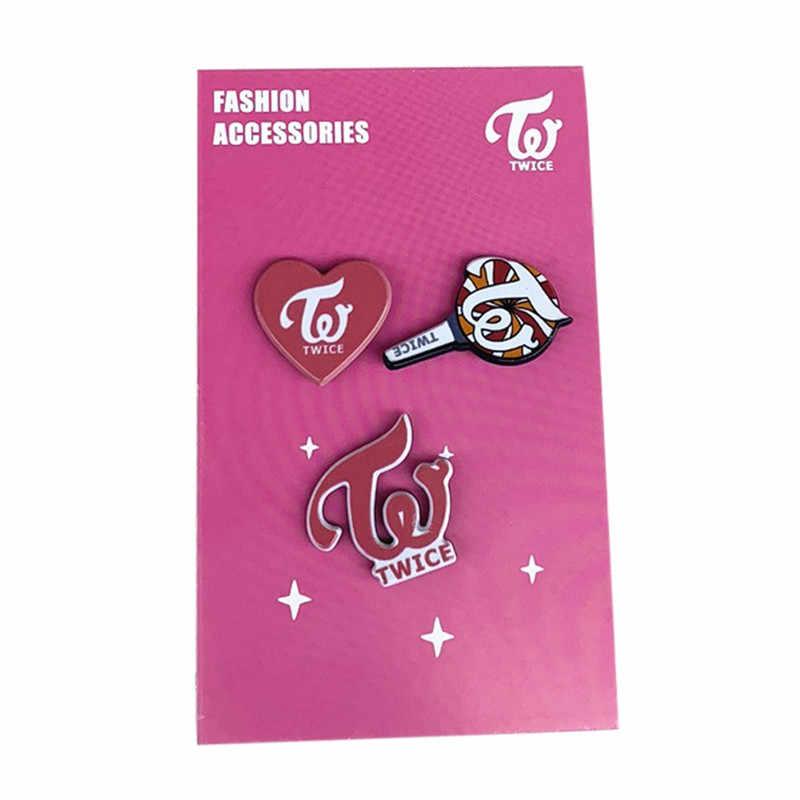 3 PCS GOT7 EXO Blackpink KPOP สองครั้งน่ารักน่ารักน่ารักเข็มกลัด Pin ของที่ระลึกของขวัญเครื่องประดับสำหรับหญิงเสื้อ Pins