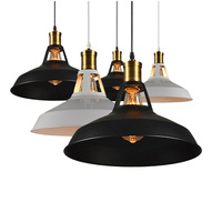 Vintage Antique Lamp Cover Ceiling Metal Edison Pendant Ceiling Light Holder Lighting Bulb Chandelier Lamp Shade