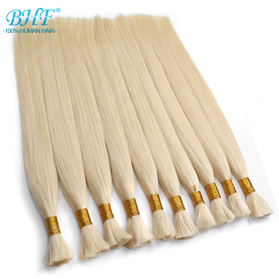 BHF Human Braiding Hair Bulk Remy Straight European Hair Bulk Blond Bulk 100% Natural Hair