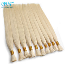 BHF Human Braiding Hair Bulk Remy Straight European Hair Bulk Blond Bulk 100% Natural Hair(China)