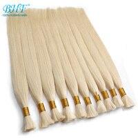 BHF Human Braiding Hair Bulk Remy Straight European Hair Bulk Blond Bulk 100% Natural Hair