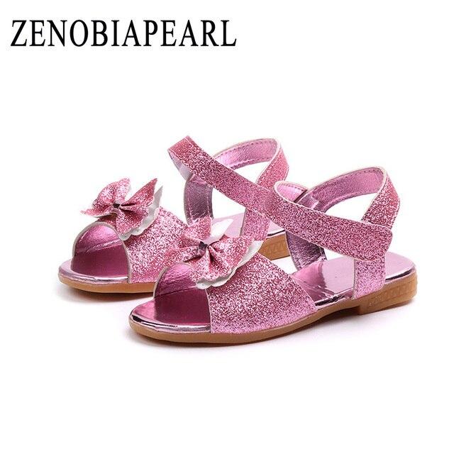 5e085d8aa Girl Open Toe Sandals 2018 New Children Sandals Summer Kids Sandlas Cute  Buttery Tie Design Princess