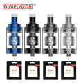 Digiflavor Siren II GTA 4.5ml Genisis Tank Atomizer 24mm with Extra 2 pcs Clapton Coils & Cotton for Mouth to Lung MTL Vaping