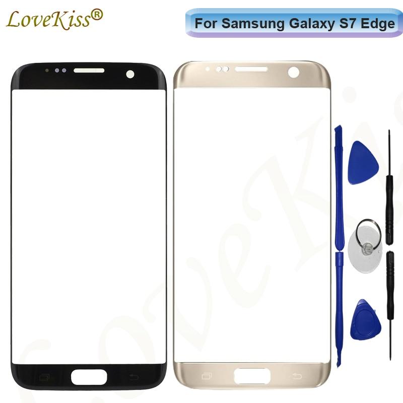 S7Edge Écran Tactile Panneau Pour Samsung S7 Bord G935 G935F G935FD Écran Tactile Capteur LCD Affichage Digitizer Verre De Remplacement
