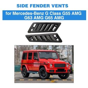 Guardabarros de flujo de aire lateral de coche de fibra de carbono Real para Mercedes Benz clase G G55 G63 G65 AMG 2004-2018 estilo de coche