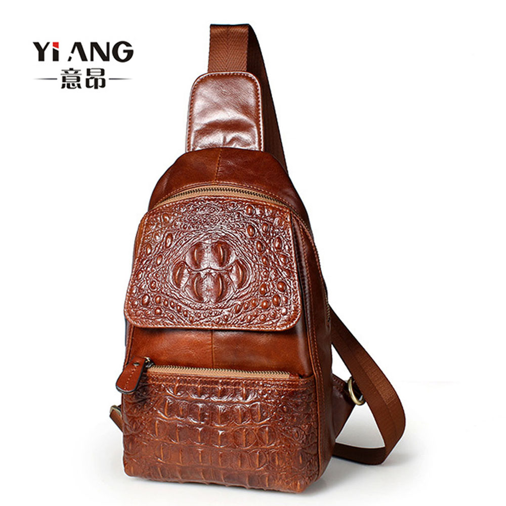 f73caba872 Men High Quality Oil Wax Genuine Leather Cowhide Messenger Shoulder Cross  Body Bag Travel Vintage Sling Chest Back Day Pack - imall.com