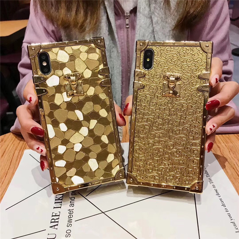 HTB1I7vTaOnrK1Rjy1Xcq6yeDVXam - Luxury Square Gold glitter case for Samsung S10 Plus S9 S8 3D high quality soft cover for iphone 11 Pro X XR XS MAX 6 7 8 coque