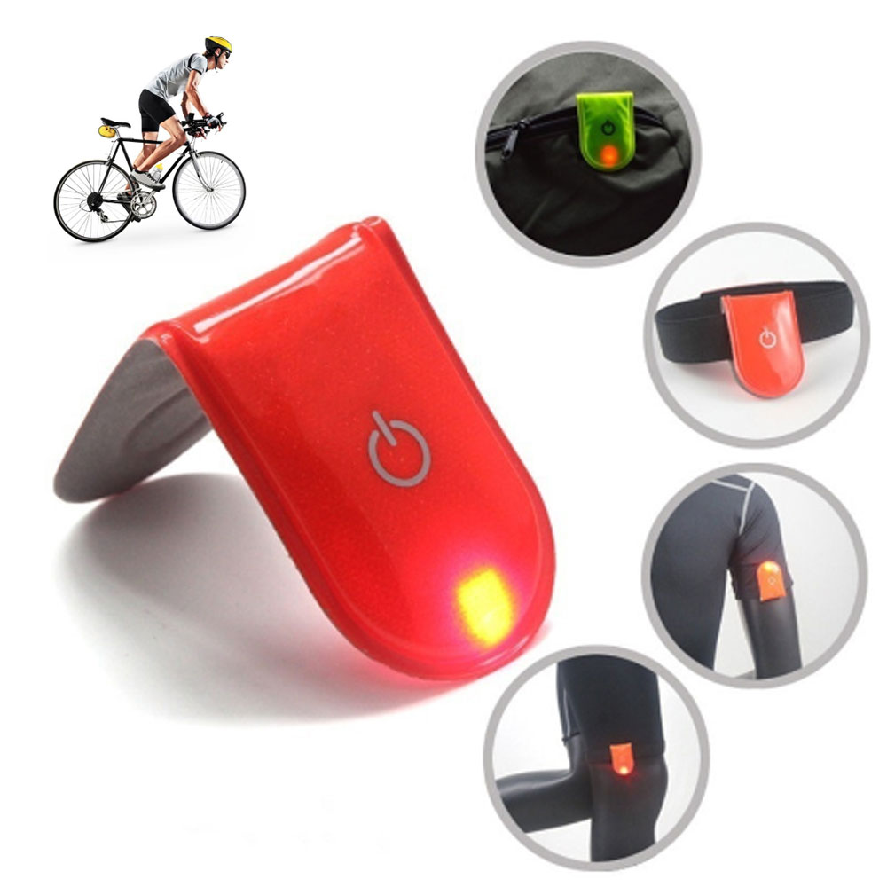 Gadget-Accessories Safety-Light Reflective Night-Walking Magnet-Clip Button-Battery Built-In