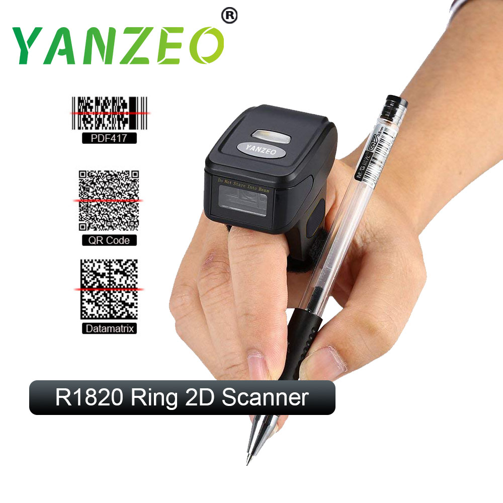 Yanzeo R1820 Super Convenient Portable 2D QR Coder Wearable Ring Wireless Finger 2 4G Bluetooth BarCode Scanner in Printer Parts from Computer Office