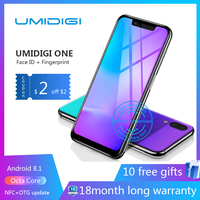 UMIDIGI one Octa Core cell phone 5.9 FHD+Full Screen 4G+32GB F/1.7 Android 8.1 4G Smartphone gsm mobile phone unlocked cell