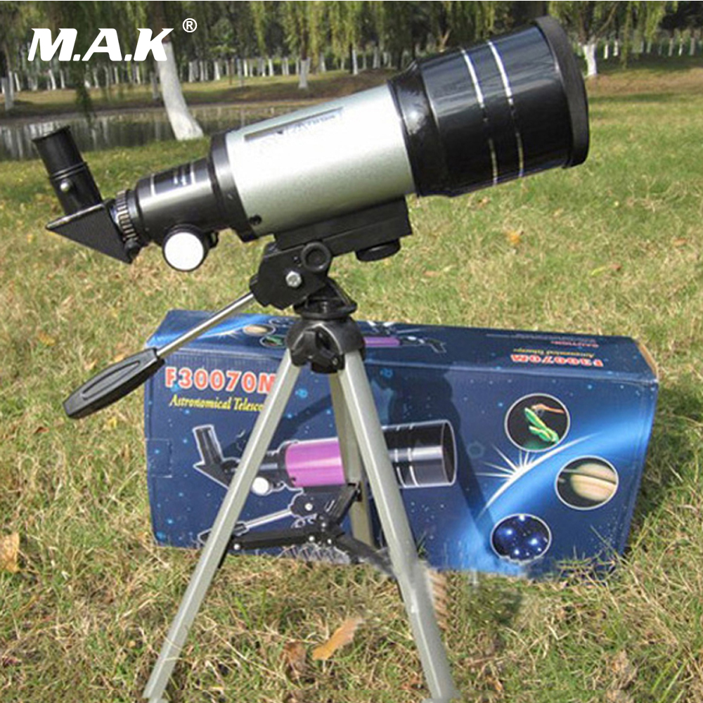 Professional Astronomical Monocular Telescope F30070M Silver with Tripod Barlow Lens Eyepiece Moon Filter For Astronomic Space kid s gift entry level astronomical telescope with tripod for children