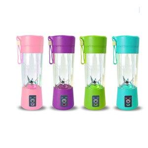 Image 3 - Draagbare Sap Blender Usb Juicer Cup Multifunctionele Fruit Mixer 2 4 6 Blade Mengmachine Dropshipping Rood Zwart groen Blauw Pu