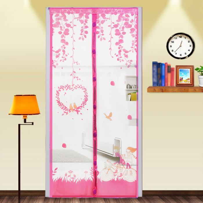 cortinas mosquiteiro na janela da porta malha