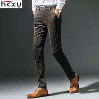 HCXY 2017 New Spring Autumn Fashion Slim Fit Men Casual Pants Straight Pant Men Elastic Business