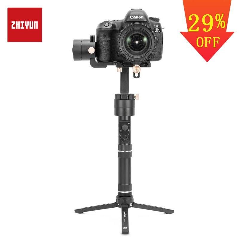 ZHIYUN grúa oficial Plus estabilizador de 3 ejes cardán portátil 2500g carga útil para cámara DSLR sin espejo soporte modo POV del Crane2