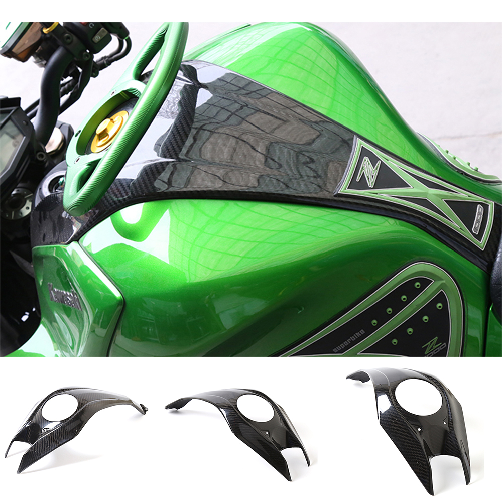 SEPP Motorcycle Accessories Carbon Fiber Upper Top Fuel Tank Guard Cover For Kawasaki Z1000 Z 1000 2013-2016 2014 2015 motorcycle radiator grille grill guard cover protector golden for kawasaki zx6r 2009 2010 2011 2012 2013 2014 2015
