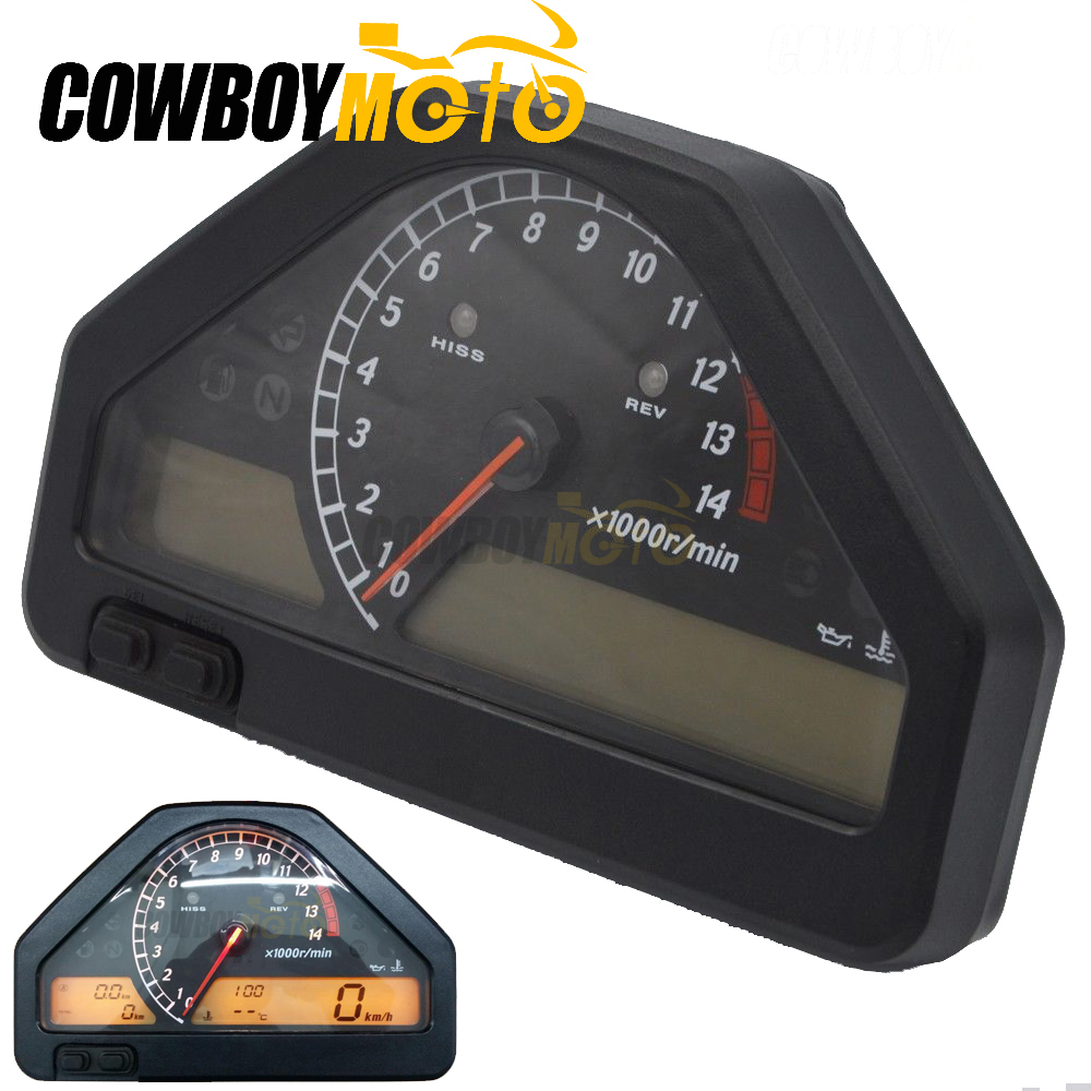 MotorcycleBlack StreetBike Speedometer Gauge Meter Tachometer Gauges For HONDA CBR1000RR CBR1000 RR CBR 1000 2004 2005 2006 2007 for honda cbr600rr 2003 2004 2005 2006 new speedometer instrument shell tachometer gauge case