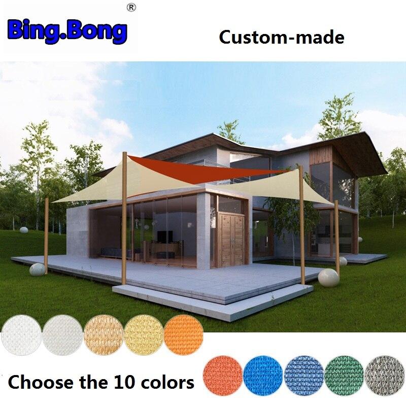 Custom sun shade sail HDPE mesh outdoor UV waterproof ...