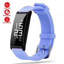 Здоровья смарт-браслет сердечного ритма крови pressur/кислорода часы фитнес-трекер активности водонепроницаемый браслет SmartBand
