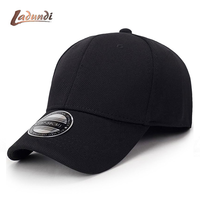 2018 Black Baseball Cap Men Snapback Hats Caps Men Flexfit Fitted Closed Full Cap Women Gorras Bone Male Trucker Hat Casquette