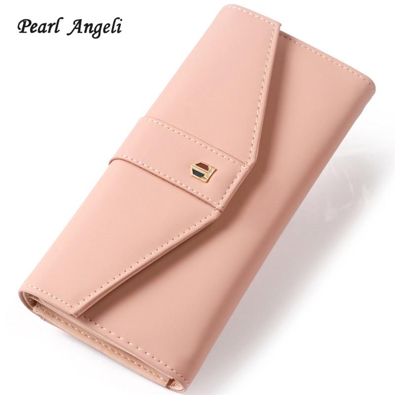 Pearl Angeli Mujeres embrague largo billetera de gran capacidad de - Monederos y carteras
