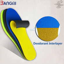 3ANGNI Double Sides Footmaster Deodorization Free Cut Soft Sport Insoles For Men Women Shoes Insoles