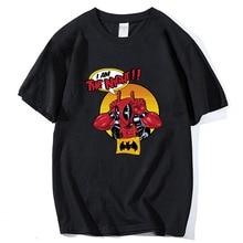 o-neck cotton streetwear Camisetas 2019 summer deadpool cartoon T Shirt Men Funny printing T-shirt Short Sleeve tee shirt homme