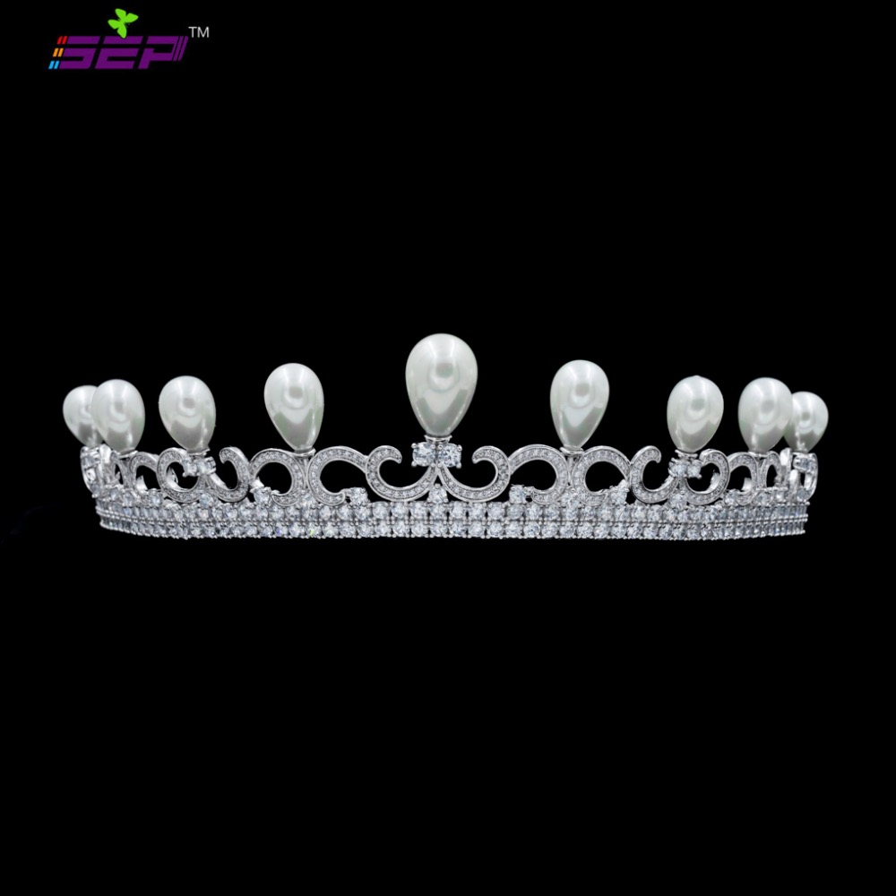 Classic Cubic Zirconia CZ Wedding Brides Girl Tiara Crown Hair Jewelry Accessories Party Jewelry TR16402Classic Cubic Zirconia CZ Wedding Brides Girl Tiara Crown Hair Jewelry Accessories Party Jewelry TR16402