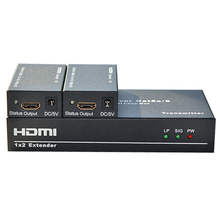 TreasLin 1080P 60Hz HDMI Extender over Cat5 Cat6 Up to 60M HDMI Transmitter and Receiver HDMI Splitter for Camera TV DVD DVR STB