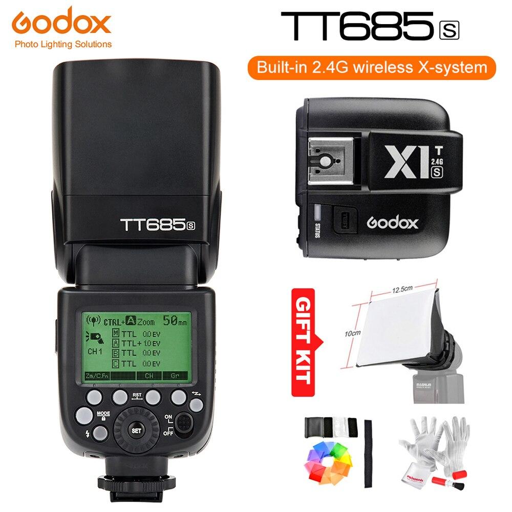 Godox TT685S GN60 1/8000 s HSS TTL Speedlite Flash Light + Godox X1T-S Wireless Flash Trigger (MI chaussures) pour Sony A6500 A6300 DSLR