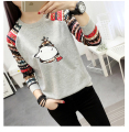 2016 Autumn Winter T Shirt Women Casual Long Sleeve Thickening Plus Size Tops Harajuku Kawaii Print Pullover Shirts Ropa Mujer