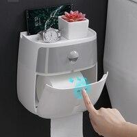 Waterproof Toilet Paper Holder Creative Storage Box Sanitary Paper Towels Holder For Kitchen Bath Toilet Roll Holder Plastic