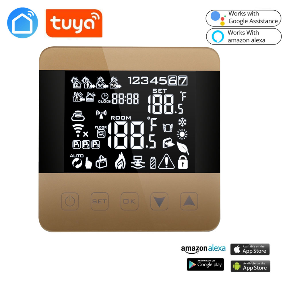 LIFE TUYA Android ISO Alexa ECHO Google Home Operating Smart Wifi Heating Thermostat For Warm Floor/ Electric Floor Heating
