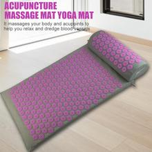 Massager Cushions Acupressure Mats Pillow Yoga Mats Relieve Back Pain Spike Mat Head Neck Back Foot Anti-stress Needle Massager