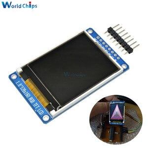 Image 1 - Полноцветный ЖК дисплей 1,8 дюйма 128x160 SPI, полноцветный TFT Модуль ST7735S 3,3 В, сменный блок питания OLED для Arduino, Комплект «сделай сам»