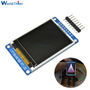 "Image 1 - 1.8"" inch Full Color 128x160 SPI Full Color TFT LCD Display Module ST7735S 3.3V Replace OLED Power Supply for Arduino DIY KIT"