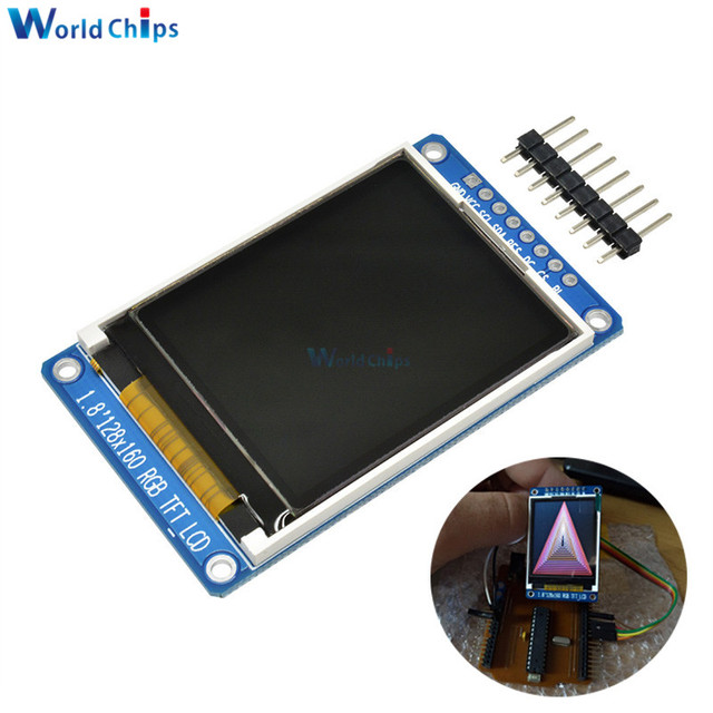 "1.8"" inch Full Color 128x160 SPI Full Color TFT LCD Display Module ST7735S 3.3V Replace OLED Power Supply for Arduino DIY KIT"