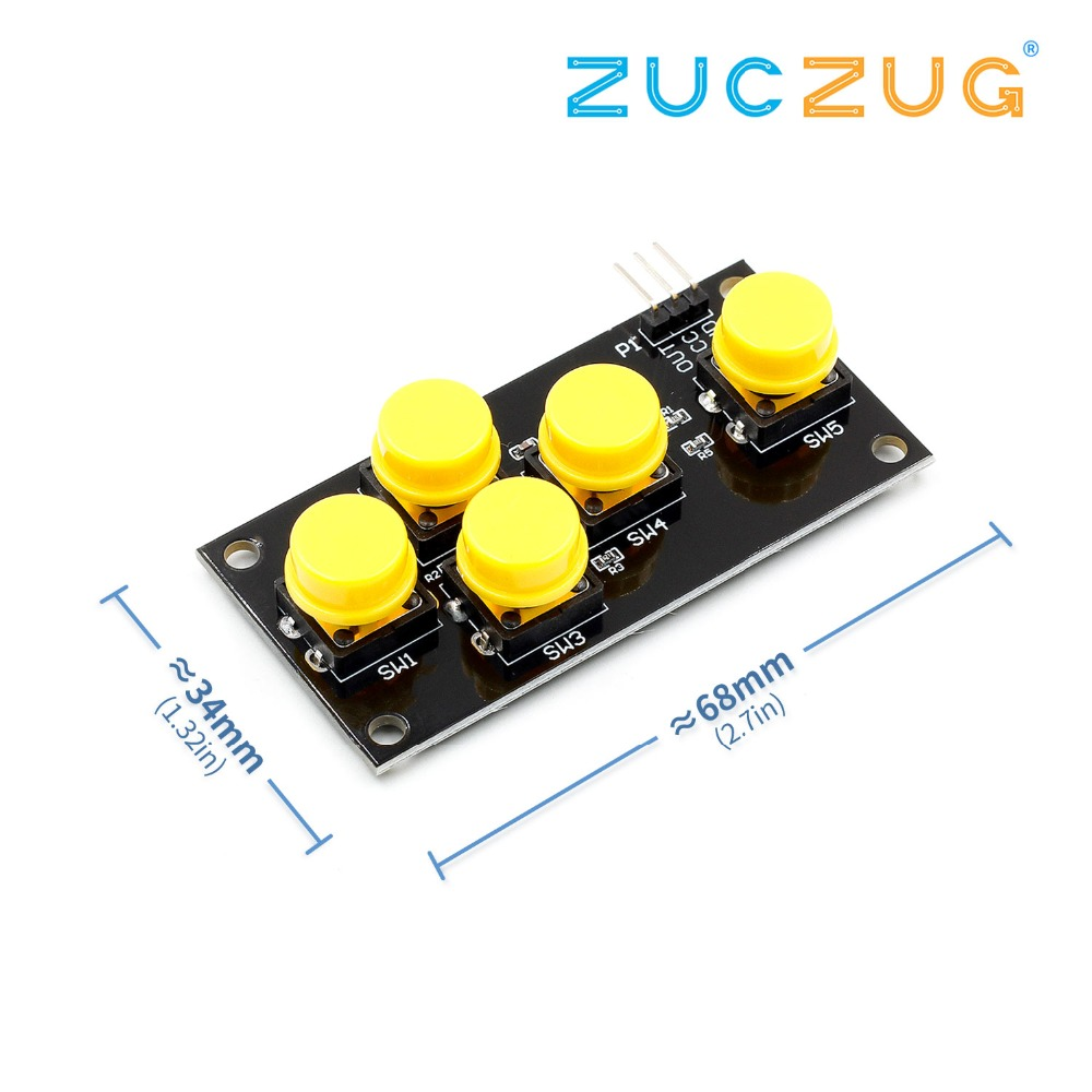 AD Keyboard Simulate Five Key Module Analog Button For Arduino Sensor Expansion Board