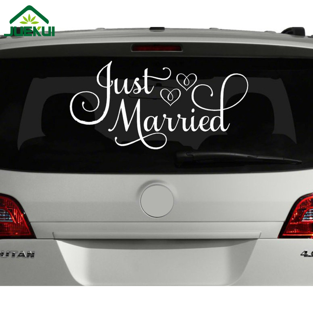 just married quotes vinyl sticker for living room car decor