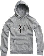Männer hoodies sweatshirts jungen brief perfekte RF Federer mode junge lose jungen männlichen 4XL multi farbe lässig hut herbst frühling