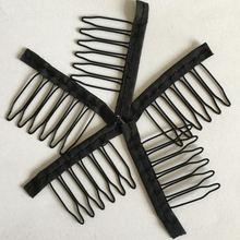 Парик с 6 зубцами тканевые зажимы для волос черного цвета 20