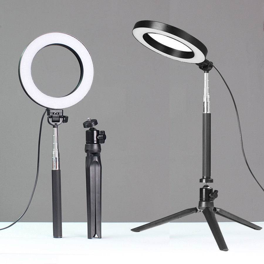3 in 1 LED Ring Photography Light Bracket Fill Lighting With Self sticker Controller Phone Studio Photo Lamp With Tripod Stand