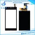 Lcd + de tela de toque de vidro peças de reposição para sony m2 Dual SIM S50H D2302 D2305 D2306 1 Peças/lote Frete Grátis testado