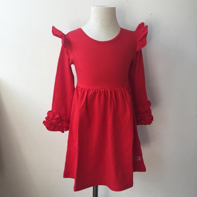 Neueste verkauf farbe kinder kleider designs one piece baby mädchen ...